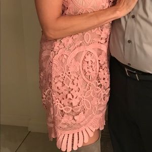 Gorgeous Pink Embroidered shift dress